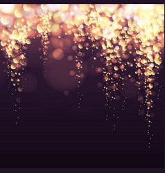 Abstract holiday golden champagne bubbles vector