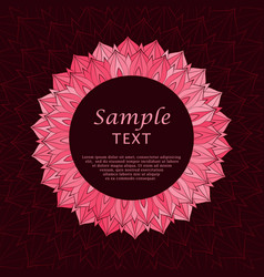 abstract red floral frame vector image vector image