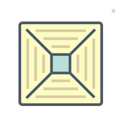 Air conditioner grill icon 64x64 perfect pixel vector