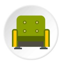 armchair icon circle vector image