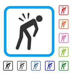 Backache framed icon vector