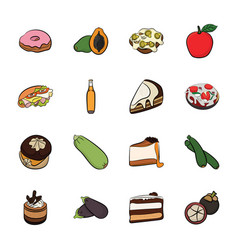 Best food icons vector