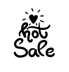 black hot sale template design special offer vector image