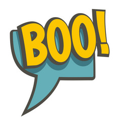 Boo speech bubble icon isolated vector