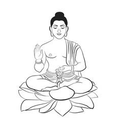 buddha the symbol of hinduism buddhism vector image