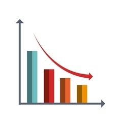 Business finance graphic statistics icon vector
