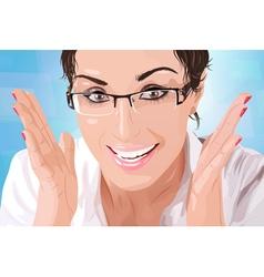 Businesswoman portrait vector image