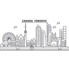 Canada toronto architecture line skyline vector