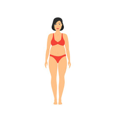 cartoon obesity weight loss vector image