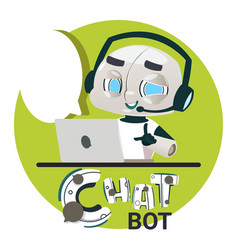 Chatbot robot icon chatter bot answer users vector