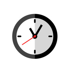 clock icon design on white background flat style vector image