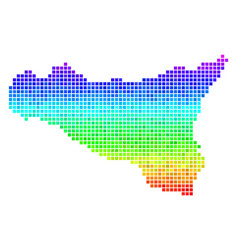 Colored dotted sicilia map vector