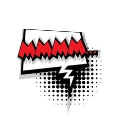 Comic text mmmm sound effects pop art vector image