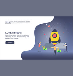 concept startup with character modern vector image