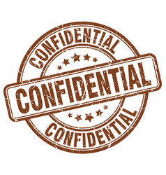Confidential stamp vector