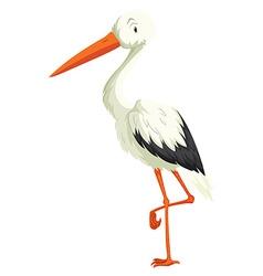 Crane standing on one leg vector