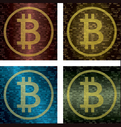 cryptocurrency and blockchain technology concept vector image