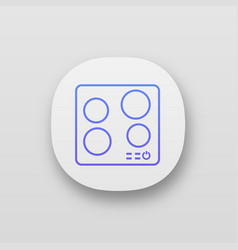 Electric induction hob app icon vector