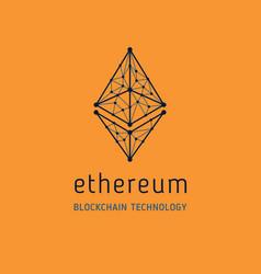 Ethereum symbol icon vector