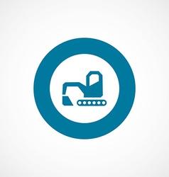 Excavator bold blue border circle icon vector