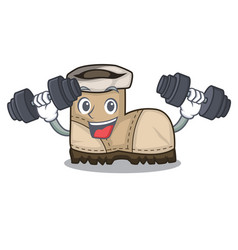 Fitness working boots isolated on the mascot vector