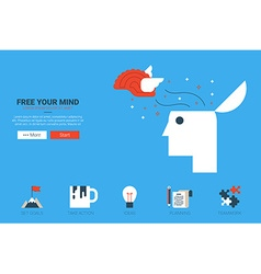 Free your mind concept vector