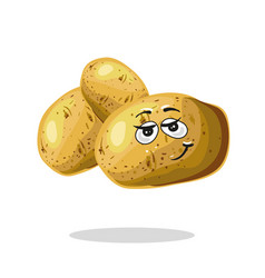funny potato character cartoon mascot vector image