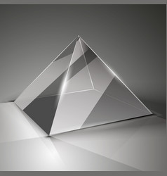 Glass cube on a transparent background with vector