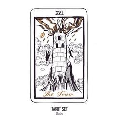 hand drawn tarot card deck major arcana vector image