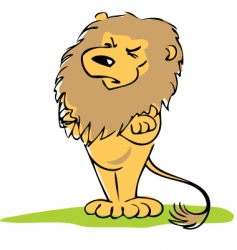 Insulted lion vector