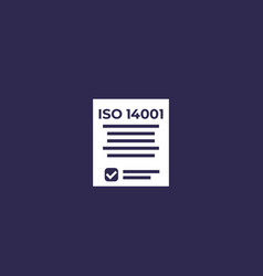 Iso 14001 icon vector