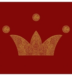 Lace crown art royal symbol Imperial vector