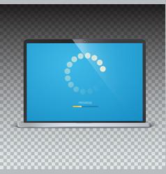 Load bar for mobile apps web preloader on screen vector