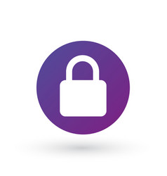 lock icon in circle privacy secure concept vector image
