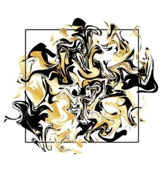 Marbling texture background Golden marble banner vector