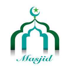 Masjid or mosque symbol vector