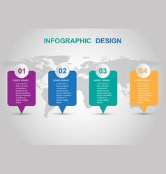 modern infographic design template with banners vector image