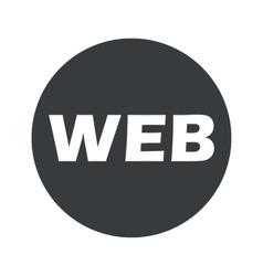Monochrome round WEB icon vector