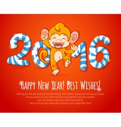 New year Chinese celebration card vector image vector image
