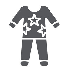 Pajamas glyph icon clothes and nightwear pyjama vector