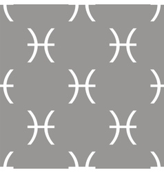 Pisces seamless pattern vector image