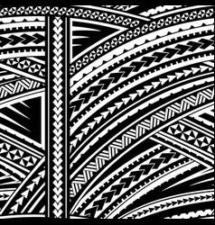 samoa tribal ornament vector image