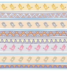 Seamless bird pattern background vector