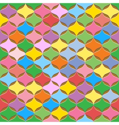 Seamless colorful abstract geometric pattern vector image