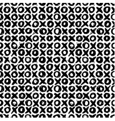 seamless pattern with noughts and crosses vector image