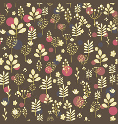 seamless pattern with yellow silhouettes of vector image
