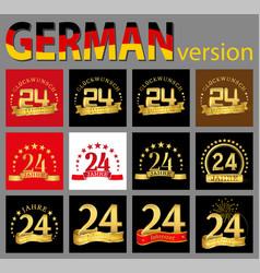 Set of number twenty-four 24 years celebration vector