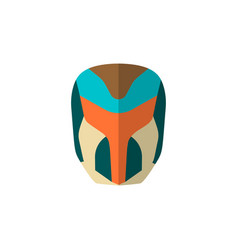 Set of super hero masks in flat style big vector