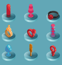 sex shop color isometric icons vector image