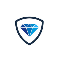 shield diamond logo icon design vector image